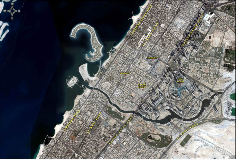 Jumeirah Bay Island Location Map