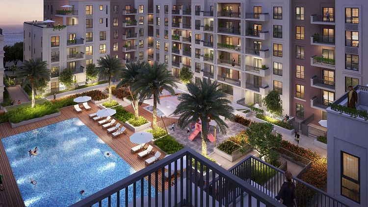 Sapphire Beach Residences in Maryam Island is a water-front development comprising of studio,1BR, 2BR& 3BR apartments by Eagle Hills Developers.