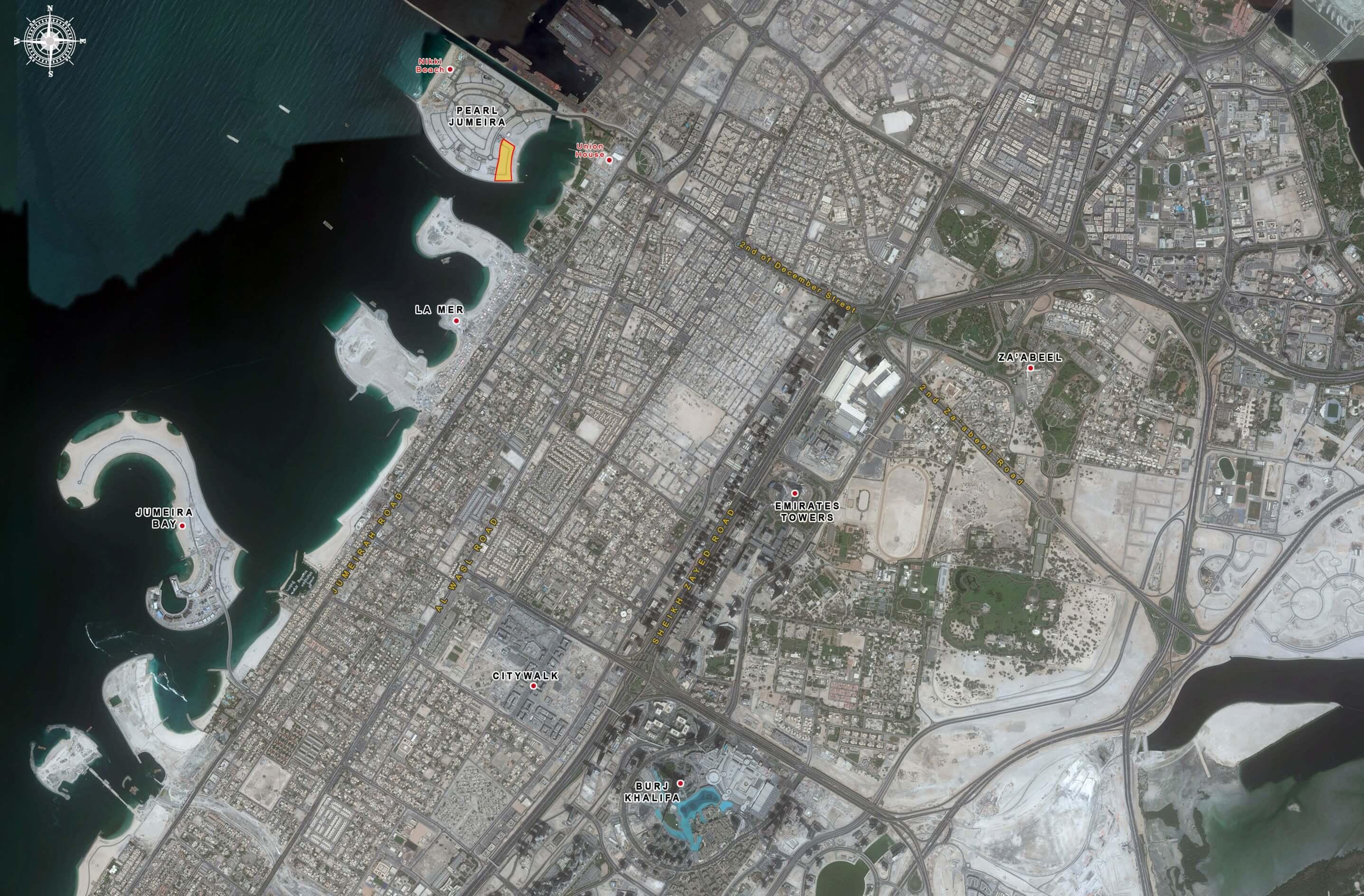 قطع اراضي لؤلؤة جزيرة جميرا