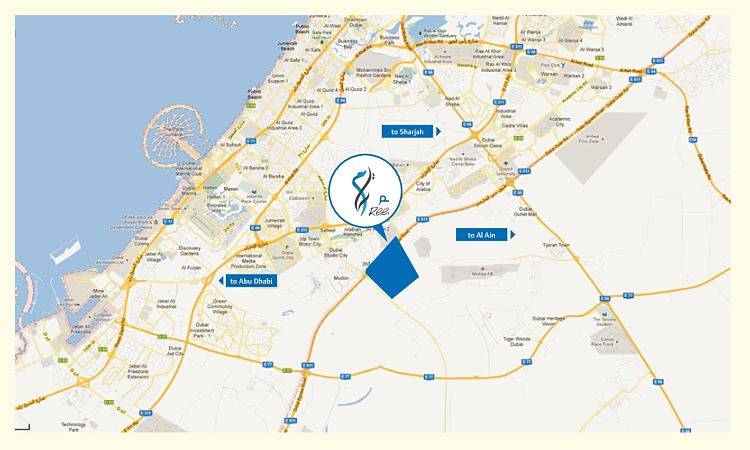 Mira Oasis by Emaar - Location Map