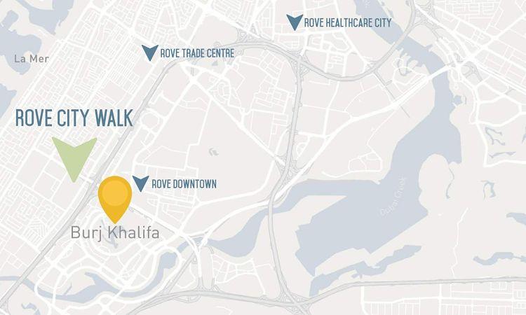 Rove Hotel Apartments in City Walk | Emaar Properties