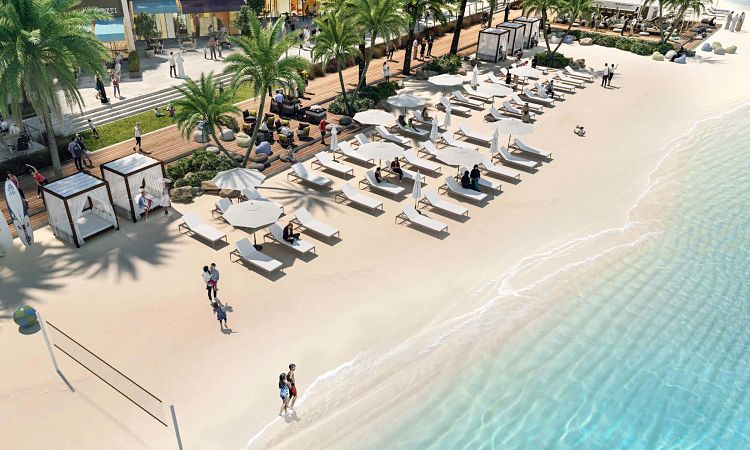 Breeze Creek Beach in Dubai Creek Harbour | Emaar Properties