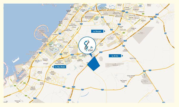 Mira Oasis by Emaar - Location Map